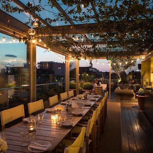 25 best ideas about rooftop restaurant on pinterest for Rooftop bar and terrace