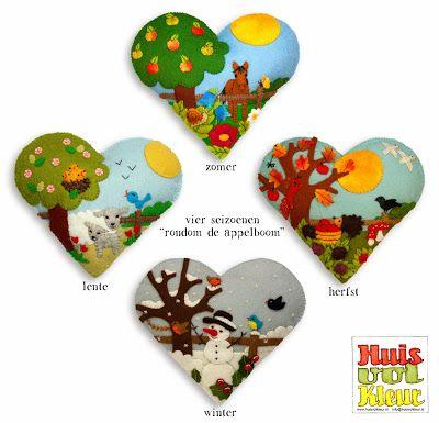 De 4 seizoenen van vilt - huisvolkleur