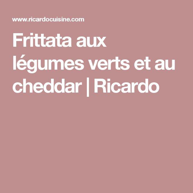 Frittata aux légumes verts et au cheddar | Ricardo