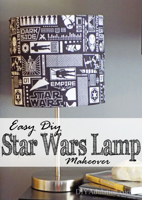 This DIY Star Wars lamp makeover couldn't be easier! It's the perfect unique decor to dress up your kid's room or your husband's man cave.