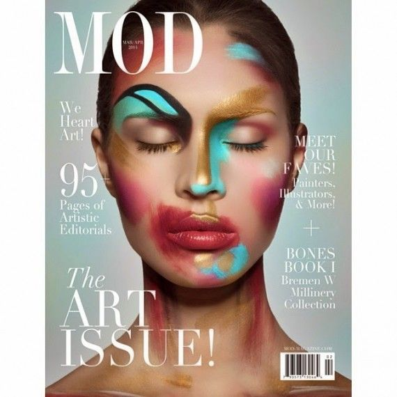 The Art Issue Cover Make Upphotoshoot