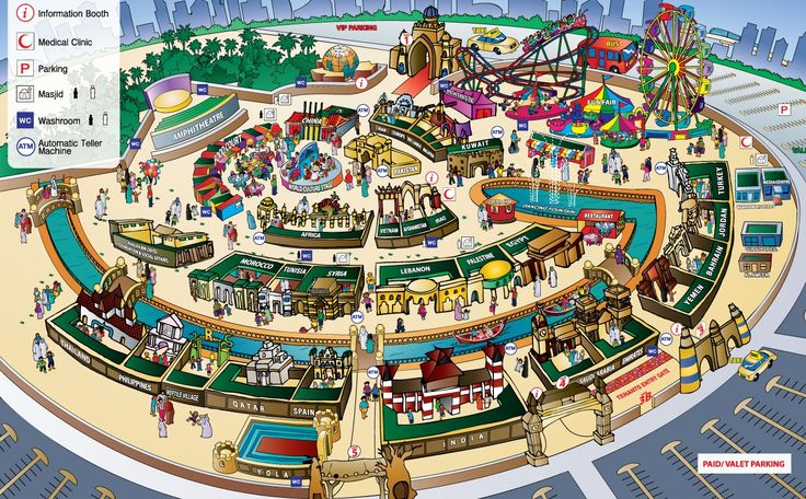 Dubai Global Village:- Duration of this is generally from Oct - March (dubai shopping festival too is part of it)