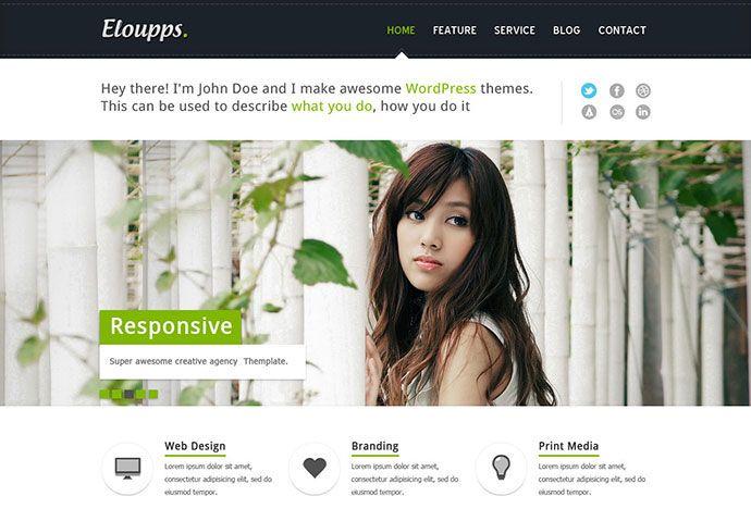 95 Beautiful Photoshop Website Templates
