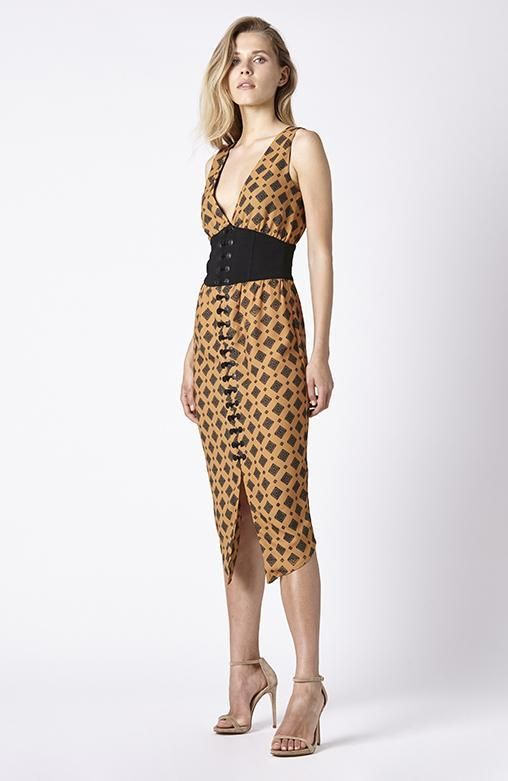 RUBY SEES ALL - Miller Dress - Tile Print
