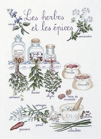 Herbs and Spices Embroidery Kit