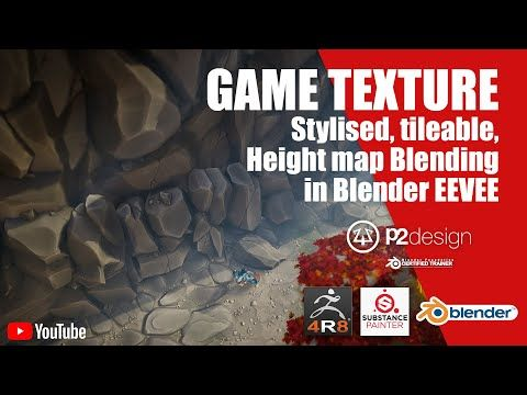 Stylised tileable texture creation - Height blending in