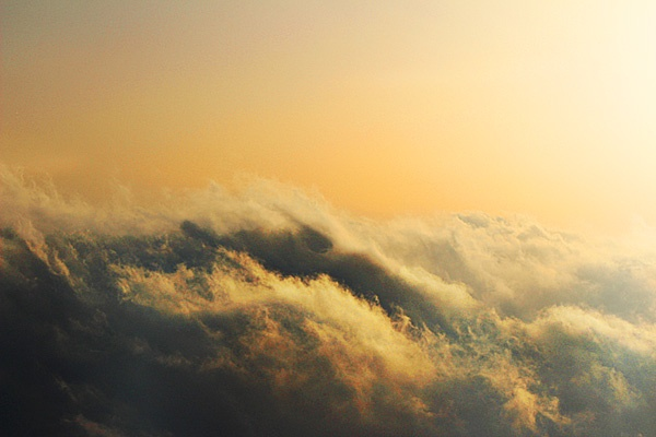 Clouds under the sunset