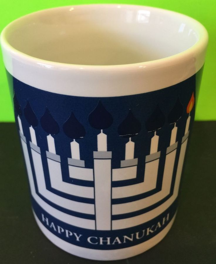 Collectable 2002 Happy Chanukah Menorah Candle Coffee Cup Heat Activated  | eBay