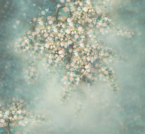 Flower Photography Backdrop - Floral Photo Background for Pictures Vinyl Photography Backdrop Newborns Background CM-5161