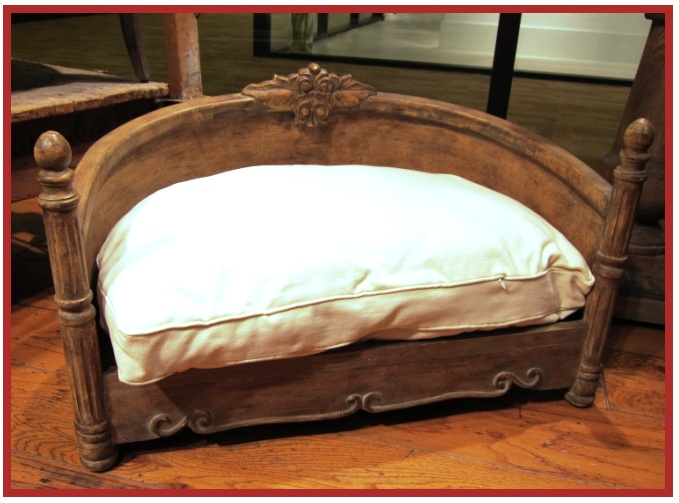 A beautiful french style dog bed an antique look with