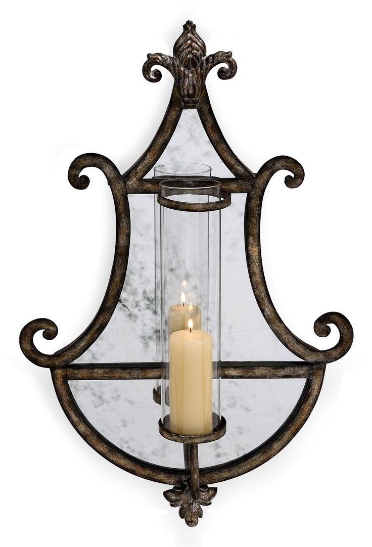 Wrought Iron Wall Sconces for Candles - No Wires No Mess