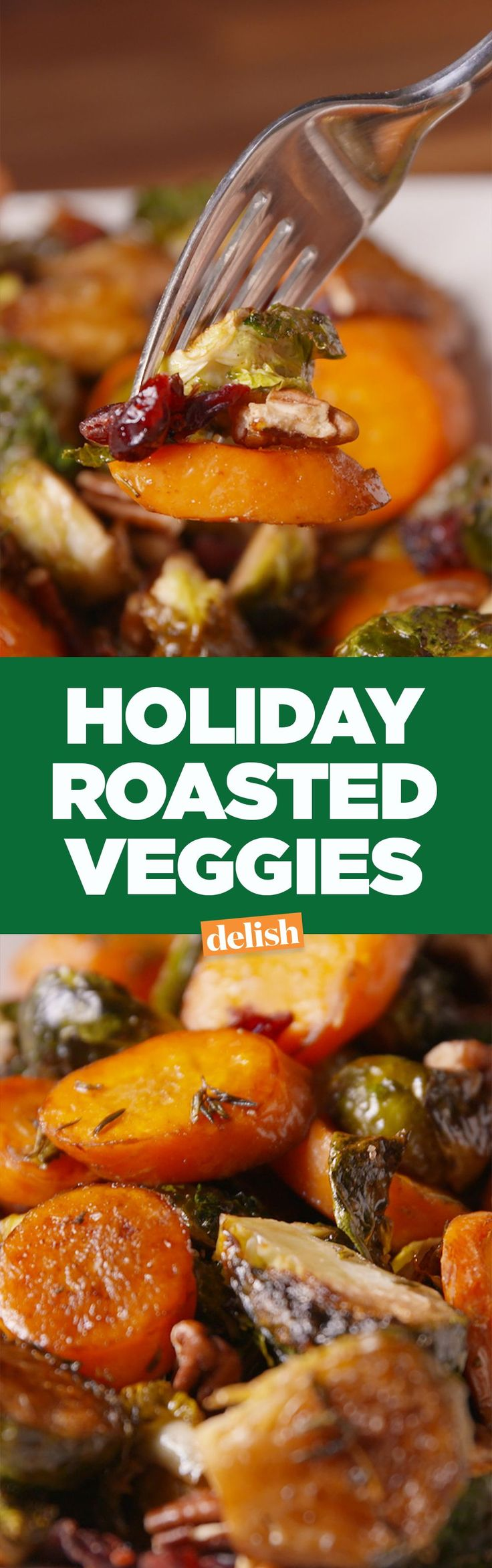 Holiday Roasted Veggies are the perfect one-pan side dish for Thanksgiving. Get the recipe on Delish.com.