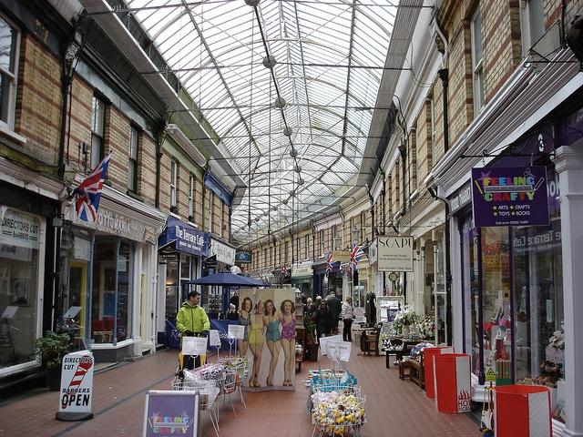 Westbourne Arcade Bournemouth Dorset England, via Flickr.