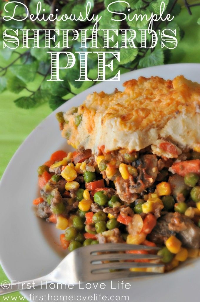 Easy Shepherd's Pie | First Home Love Life #recipes #dinner #dinnerideas  (Could use this recipe for cottage pie too by simply changing the meat/mince)