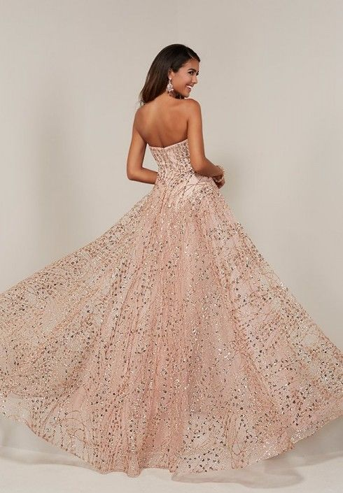 714c14bac9 Tiffany 16357 Sparkling Prom Dress with Overskirt in 2019