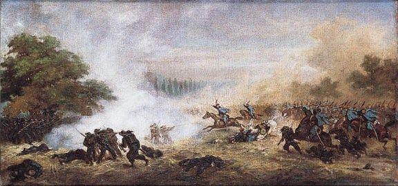 Rodakowski at The Battle of Custoza - Juliusz Kossak