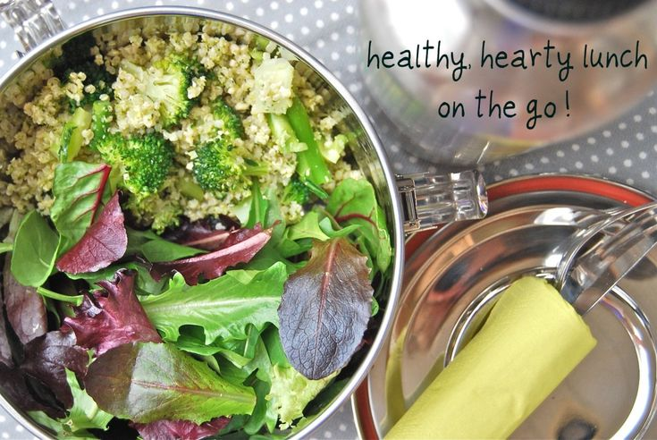 Broccoli and Quinoa Salad    Packs more protein than a steak...
