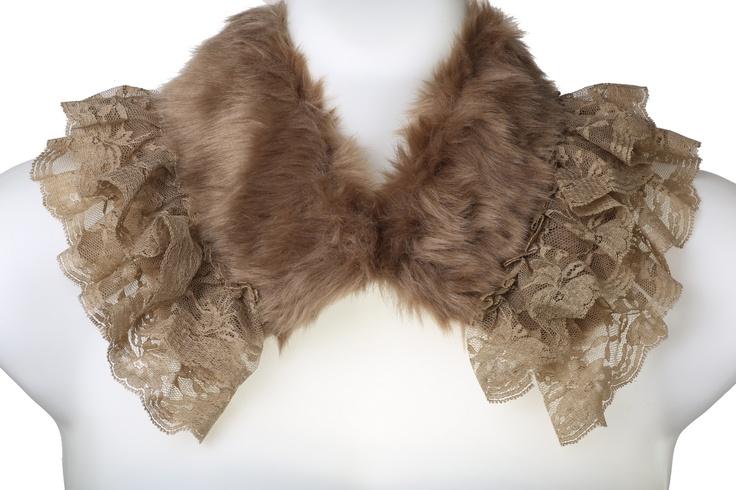 Ruffle Rabbit Fur Collar