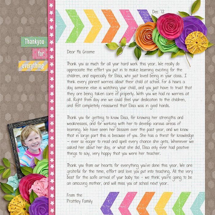 Teacher appreciation letter  Live Out Loud by Zoe Pearn  DJB Fonts: Number Ten Pencil by Darcy Baldwin