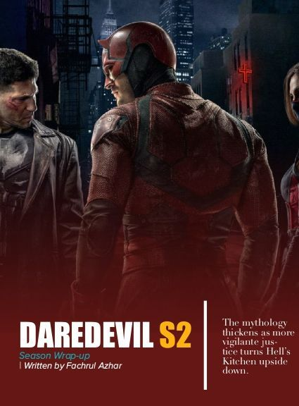 """Cohort. Magazine (Issue 3): DAREDEVIL S02 Season Wrap-Up.""""Do expect another brutal hallway fight, and a surprise appearance from a familiar face."""" https://www.yumpu.com/en/document/view/55484252/cohort-magazine-issue-3"""