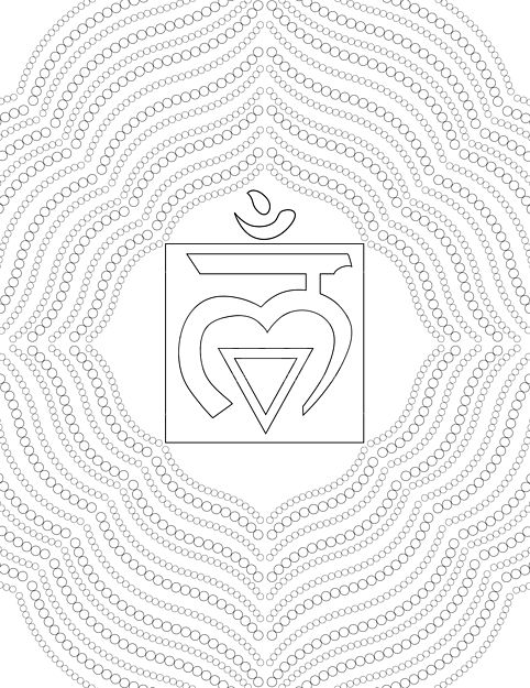 chakra symbols coloring pages - photo#22