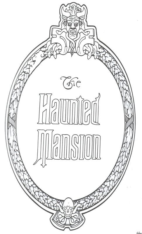 Walt Disney World Coloring Pages View Larger Walt Disney World Coloring Sheets Haunted Mansion Disney Haunted Mansion Disney Scrapbook
