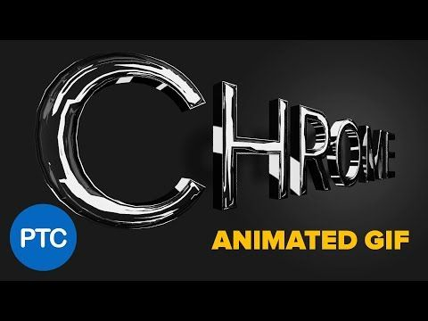 Make a 3D CHROME TEXT Effect and Turn It Into a Rotating ANIMATED GIF - Photoshop Tutorial - YouTube