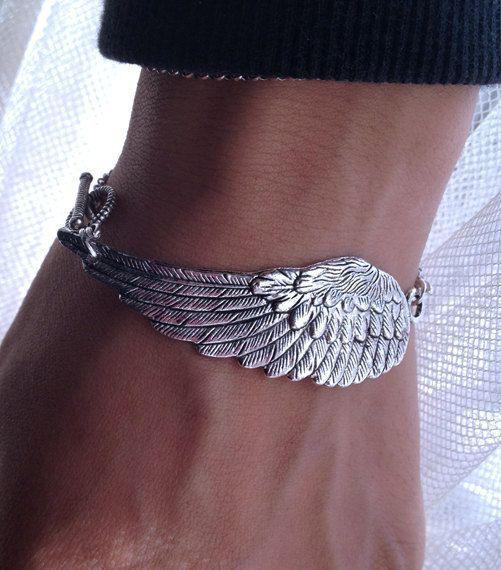 Steampunk Angel Wing Bracelet  Victorian bracelet  by pier7craft...pinned by ♥ wootandhammy.com, thoughtful jewelry.