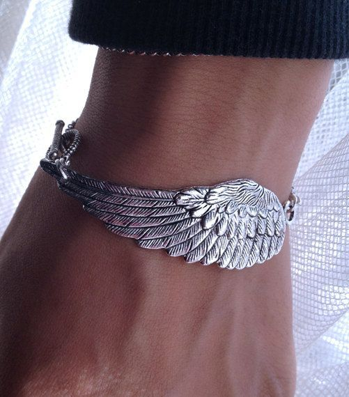 Steampunk Angel Wing Bracelet  Victorian bracelet  by pier7craft...pinned by ♥ wootandhammy.com, thoughtful jewelry.