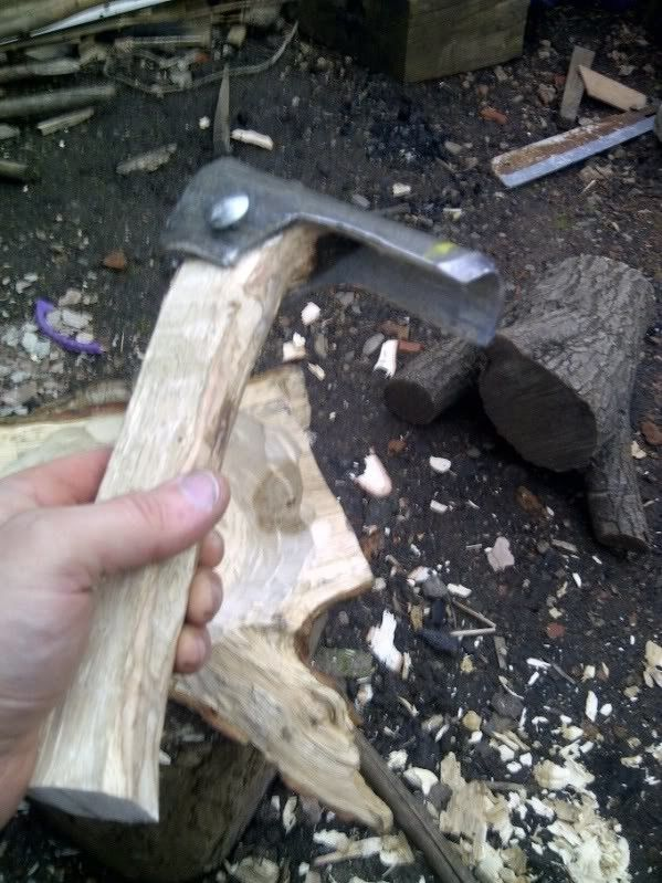 Adze by JohnC -- Homemade adze constructed from a scaffolding pole and oak. http://www.homemadetools.net/homemade-adze