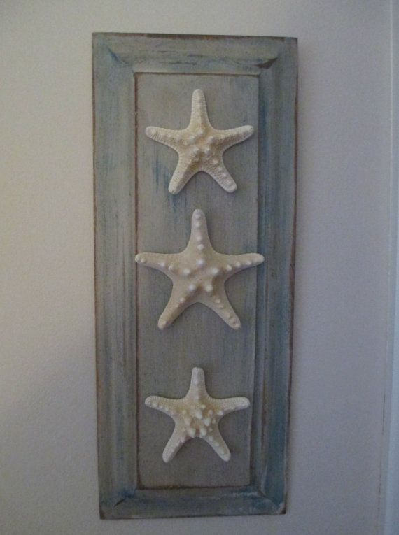 Beach Themed Wall Art. Perfect for your cottage, or beach themed room. Made of reclaimed wood, lead free paints .