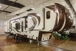 new 2014 370fl front living room luxury 5th fifth wheel travel