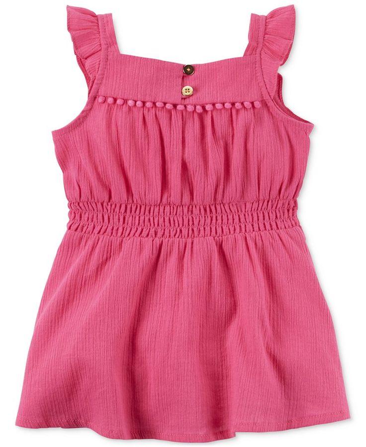 Carter's Baby Girls' Pink Flutter Sleeve Dress