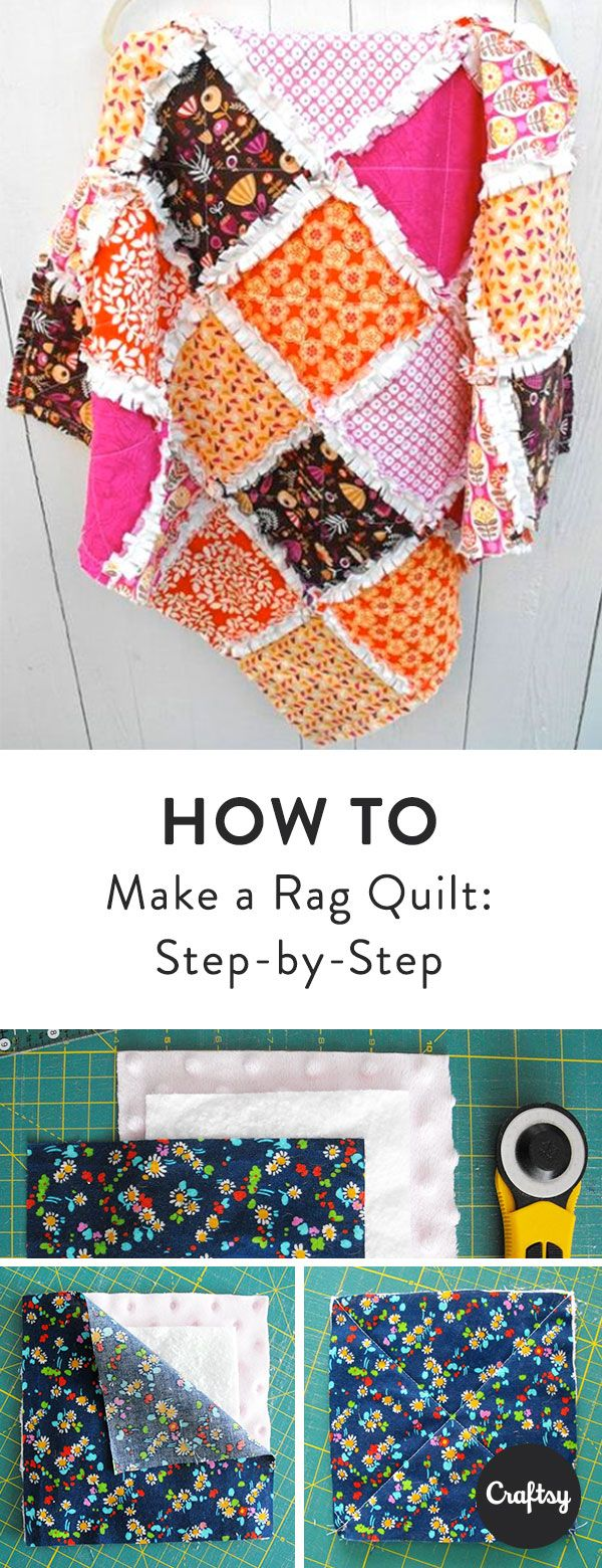 Sew this beautiful rag quilt with our step by step tutorial.