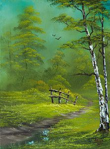 Bob Ross Painting - Quiet Trail by C Steele