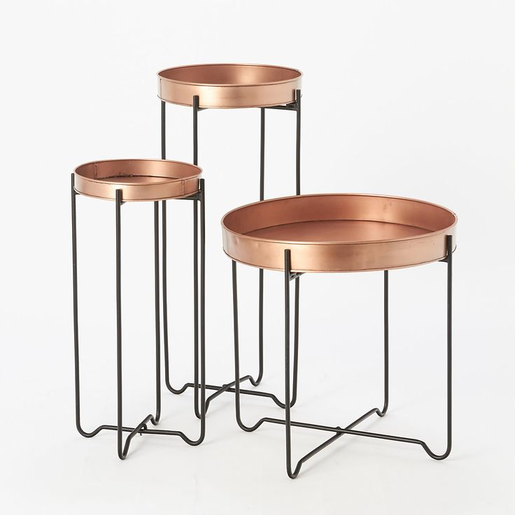 Copper Tray Table, Low in House+Home FURNITURE Storage + Accents at Terrain
