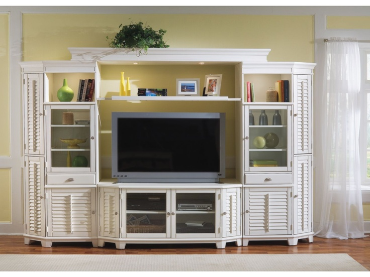 "Plantation Cove 60"" White Entertainment Center Value"