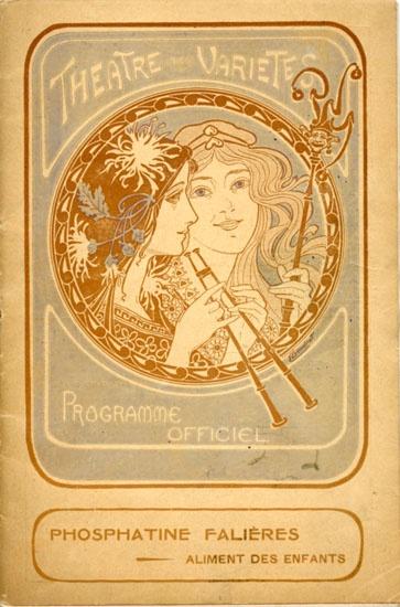 Programme Théâtre des Variétés, Paris 1905
