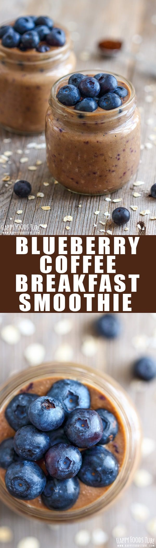 This is the ultimate breakfast for people on the go. Naturally sweet blueberry coffee breakfast smoothie is a quick and tasty way to start your day. Easy coffee smoothie recipe. Blender smoothie. Dairy free and gluten free smoothie. #smoothie #breakfast #coffee #instantcoffee #blueberry via @happyfoodstube