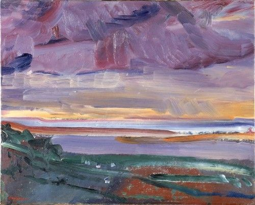 David Bomberg, Sunset, North Devon, 1946