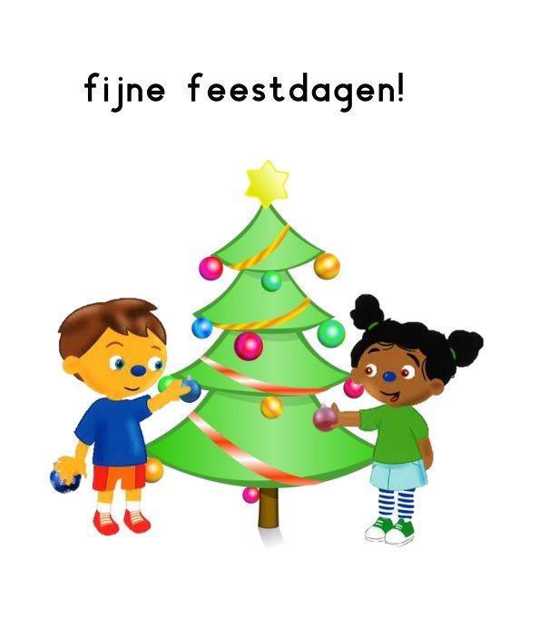 Kerstkaart van Pompom en Loeloe! Fijne feestdagen allemaal :)