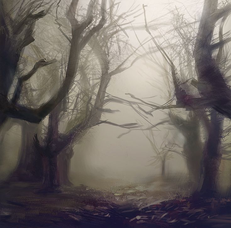 """""""Don't let any of the deadwood touch you! Understand? It leaves it's mark long and hard and that will only make for more time to shake loose.""""  [Spooky Woods] by Cristian Chihaia"""