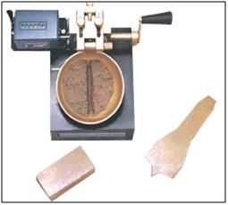 Liquid Limit Device : EI 51  Casagrande method in mechanical form is known as liquid limit method and has been in use for soil mechanics for a number of decades.  http://www.lab360.co.in/soil-test.htm