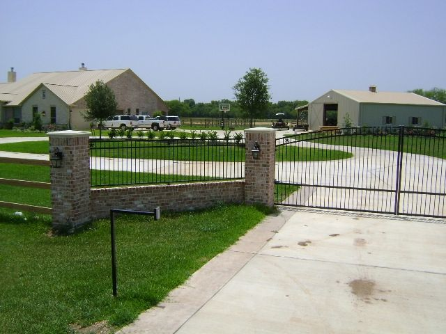 Entrance gate with keypad driveway gates pinterest