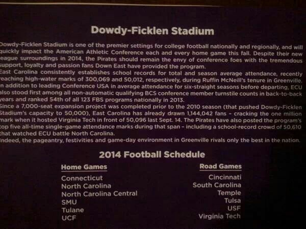 2014 Football Schedule