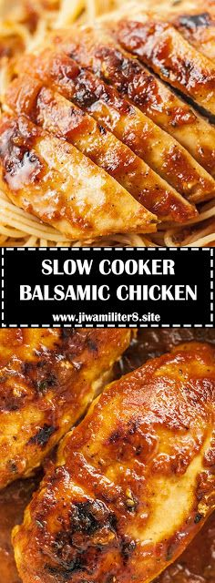 SLOW COOKER BALSAMIC CHICKEN – #recipes