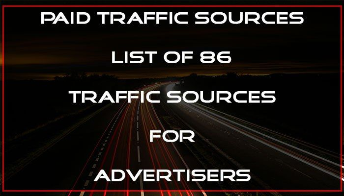 Paid Traffic Sources – 2017 Advertising Guide  This is the complete list of 86 paid traffic sources, from where you can advertise and get instant high quality traffic for your site/business.  #paidtraffic #paidtrafficsources #trafficsources #advertising #marketing #advertisingplatform