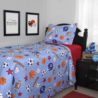 Shop for Journee Home Kid's Game Time Printed 2-piece Quilt Set. Get free delivery at Overstock.com - Your Online Kids'