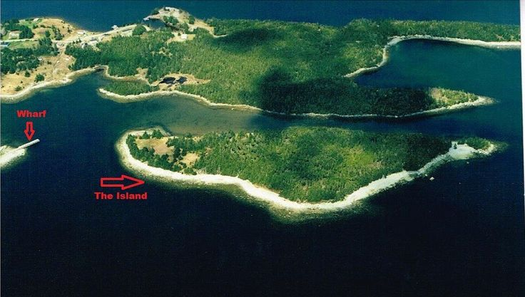 Canada. Deadman's Island is an ocean island consisting of 14.6 acres plus a 1.8 acre mainland lot with wharf and boat launch already in place, a distance of approximately 400 feet from the wharf to the end of the island, offering secluded privacy.