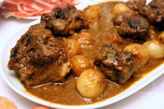 Rabo de Toro (Braised Oxtail Stew) is a typical Spanish meal